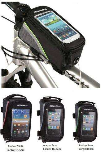 maletín porta celular o gps / tres tamaños y tres colores
