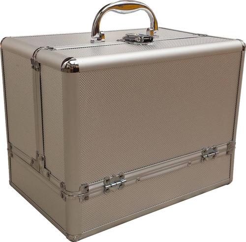 maletin porta cosmeticos maquillaje aluminio profesional pvc
