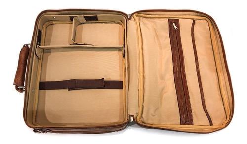 maletin portafolio cuero hombre bolso de viaje porta notebook 15.6´ tamaño oficio correa ajustable ejecutivo modelo 0774