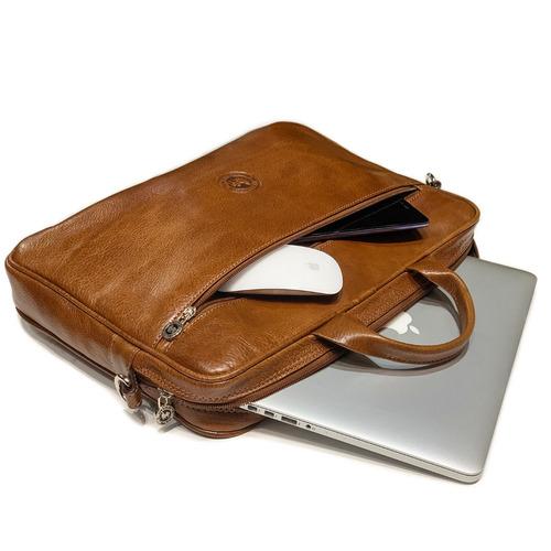 maletin portafolio cuero hombre porta notebook 15.6´ pulgadas tamaño oficio correa ajustable ejecutivo modelo 0967