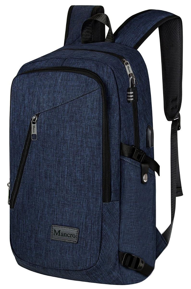 despeje mejor coleccion precio limitado Maletín Portátil Laptop Escolar Carga Usb Bolso Mochila Azul