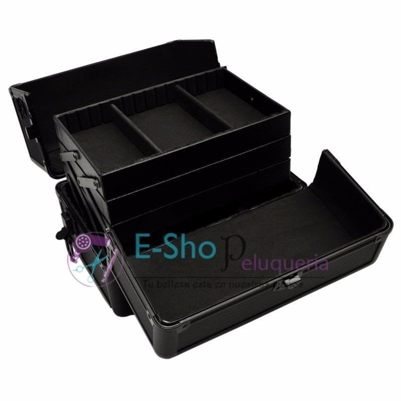 8078585b5 Maletin Profesional Porta Maquillaje Aluminio Negro - $ 2.490,00 en ...