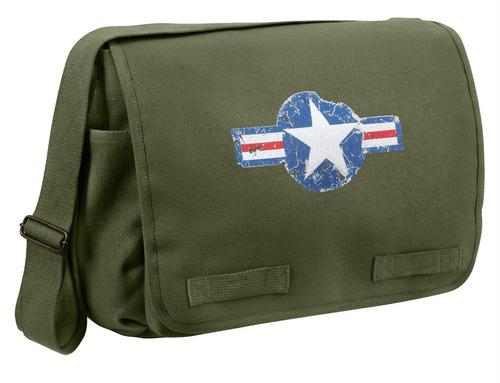 maletin rothco de mensajero air corps heavyweight verde
