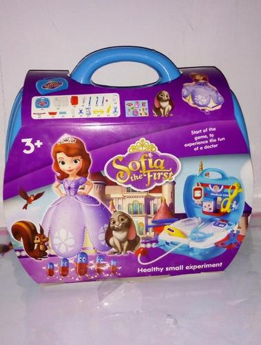 maletin sofia con set de doctor juguete para niñas
