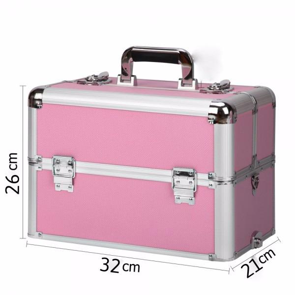 954df6927 Maletín Valija Maquillaje Profesional Aluminio Rosa Grande - $ 999 ...