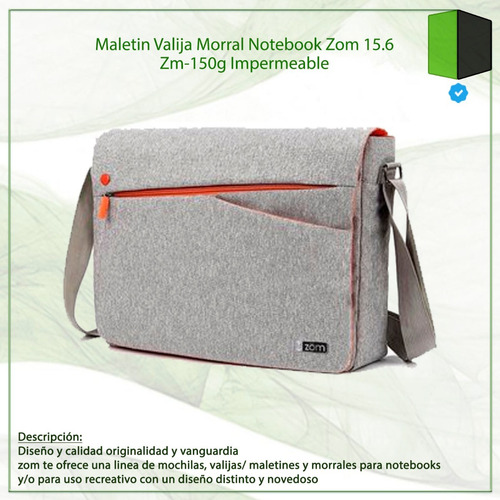 maletin valija morral notebook zom 15.6 zm-150g impermeable