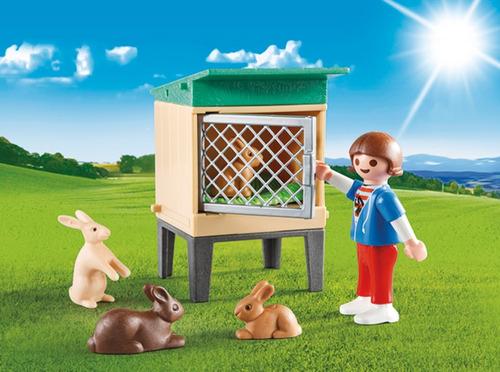 maletinha bunny com coelho country playmobil 9104