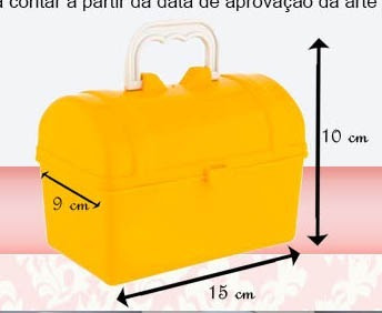 maletinha tipo baú personalizada
