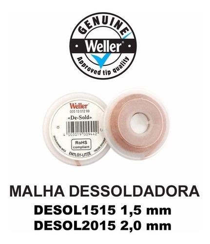 malha dessoldadora weller rolo c/1,5m desol2015 desol1515