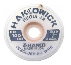 malha fita dessoldadora 1,5cm x 0,6mm hakko wick