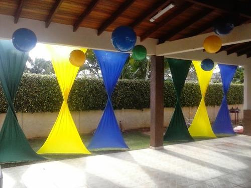 malha para decoração pacote com 18 mtos tensionada festas