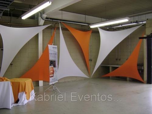 malha tensionada, decoração e solução de espaço para eventos