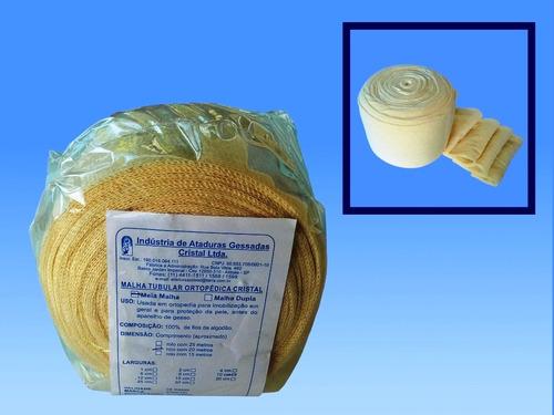 malha tubular em algodão 25cm x 15mts - pct c/ 1 unds