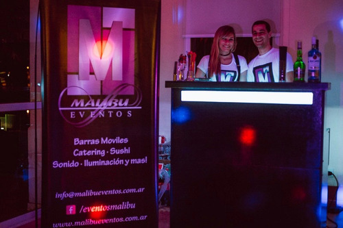 malibu eventos - barra movil libre, catering y mas !!!