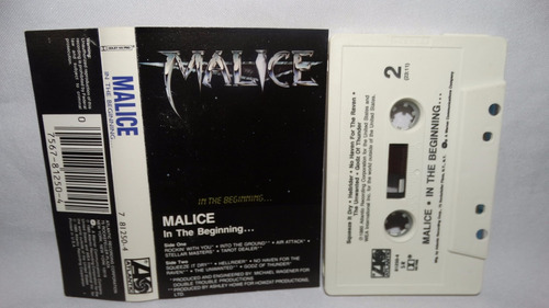 malice - in the beginning (carcasa:vg - inserto:vg)