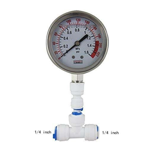 malida manómetro agua inoxidable para acuario medidor 0-1.6