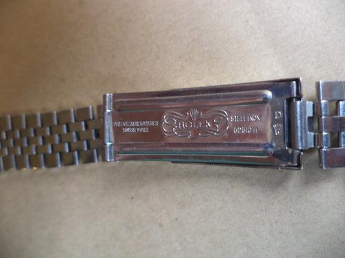 malla acero rolex modelo jubilee de 19mm. impecable