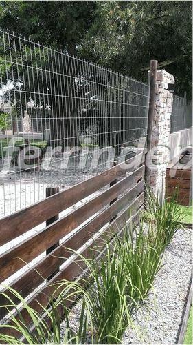 malla alambre cerco galvanizad electrosoldada 50x150mm 1m