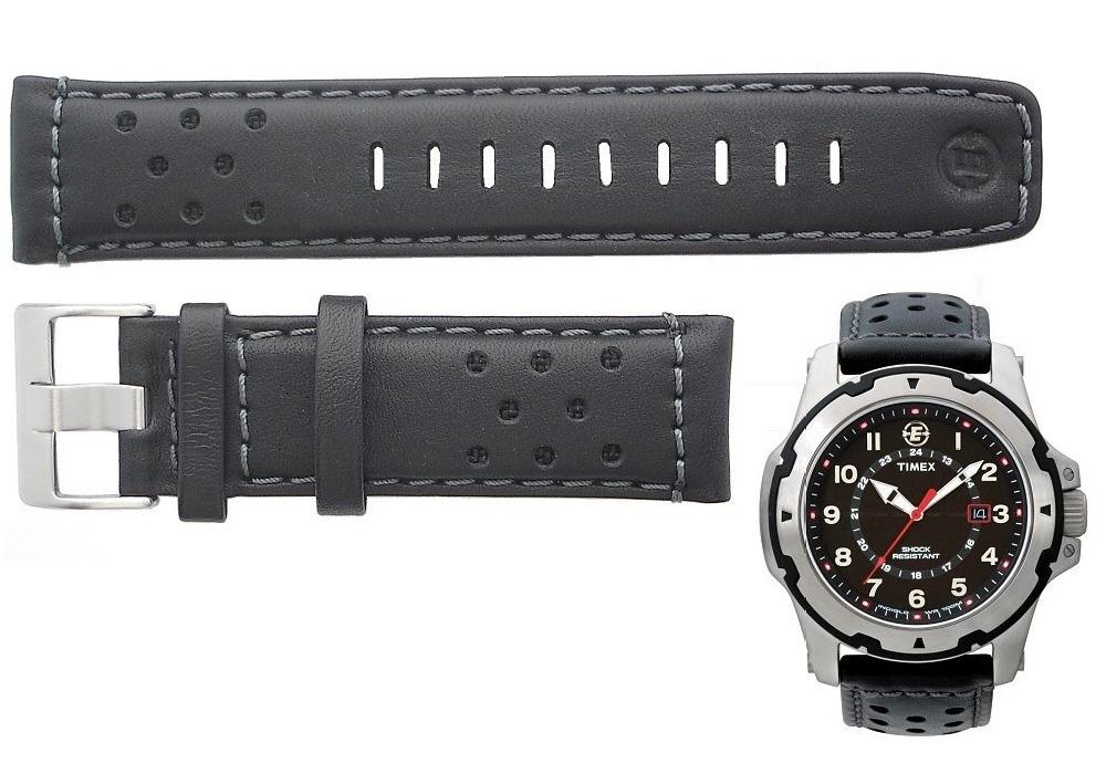 3cf8d37aa9a9 malla banda correa reloj timex t49625 cuero negra original. Cargando zoom.