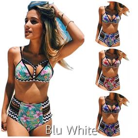 2581217e9e60 Malla Bikini Floral 2018 - 2 Piezas - Tiro Alto