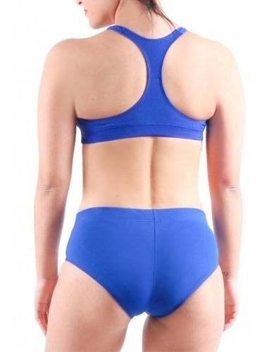 malla bikini natación speed anticloro colores lisos