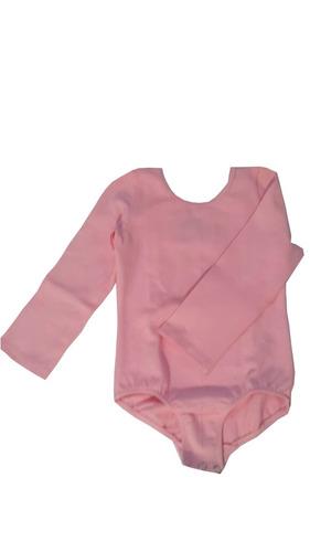 malla body manga larga broche ballet algodón
