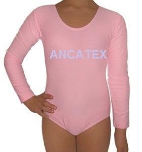 malla body manga larga broche ballet niñas