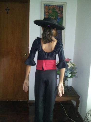 malla body manga larga flamenco talla niñas volados