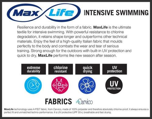 malla boxer natación arena hombre one placed print maxlife
