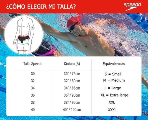malla boxer natación hombre speedo logo panel entrenamiento