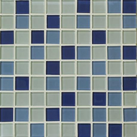 malla casuale mare 30x30 creta azul azullo sky de vidrio