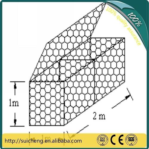 malla cesta de gavion cal 12 14.. medidas 2x1x1 m hueco