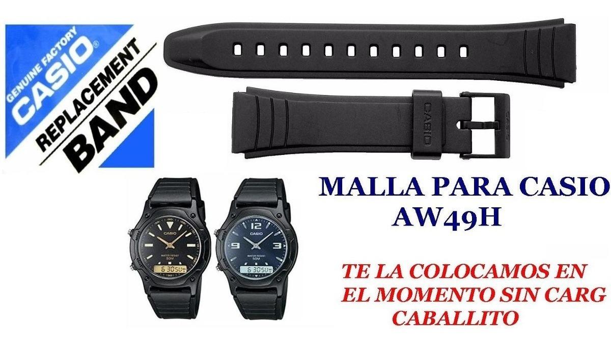 Malla Aw49h Para Reloj Correa Caballito Casio rCtshQd