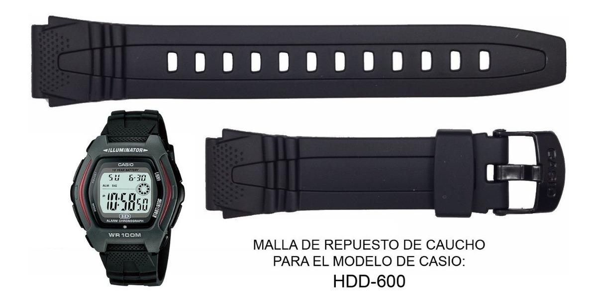 Malla Correa Repuesto Reloj Casio Hdd 600 Ag. Oficial Caba