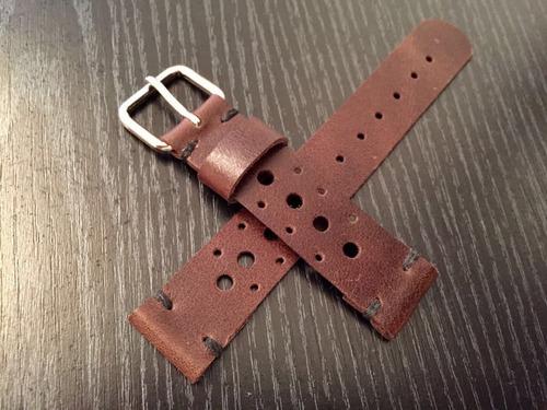 malla cuero personalizada - p/ reloj omega tag panerai [m*n]