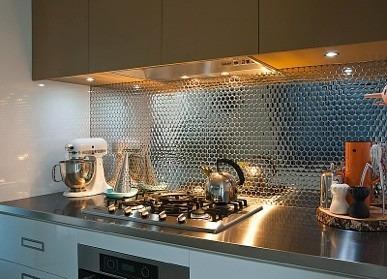 malla de acero inoxidable para cocinas integrales