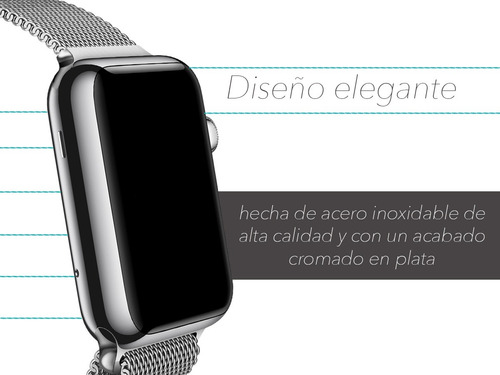 malla de acero inoxidable premium apple watch 38 40 42 44mm