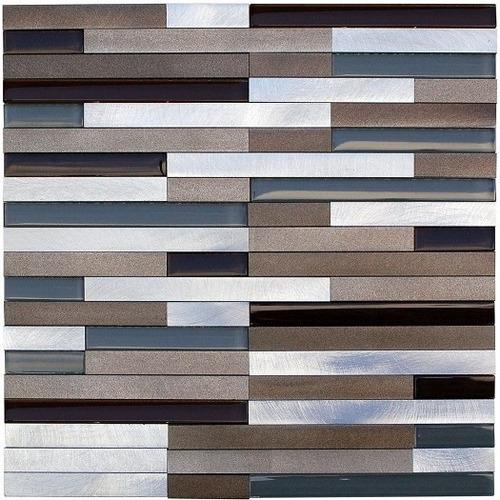 malla de aluminio lund strips beige 30x30 venecitas la plata