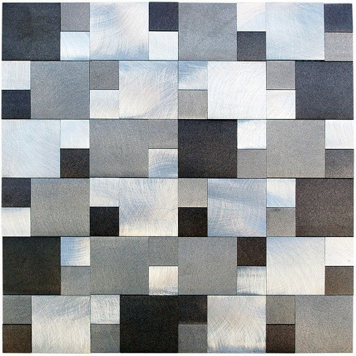 malla de aluminio sater gray 30x30 venecitas revestimiento