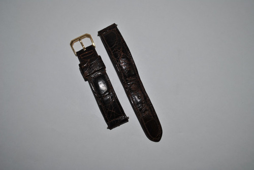 malla de reloj omega original de cocodrilo hebilla de oro