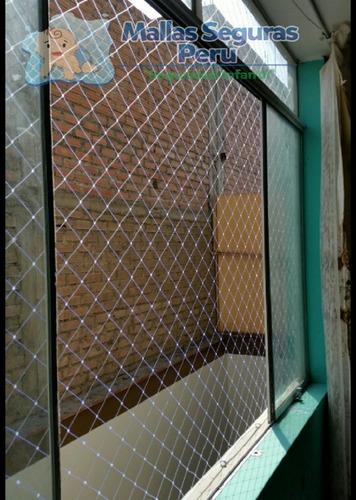 malla de seguridad para ventanas,balcones,escaleras,etc.