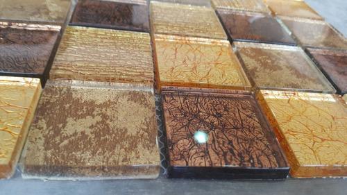 malla de vidrio oro 30x30 decoracion guardas pared