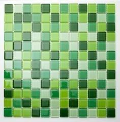 malla de vidrio verde saigon 30x30 - venecitas - la plata