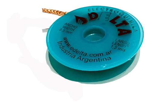 malla desoldante cobre desoldadora estaño 3,5mm 1,5mt delta