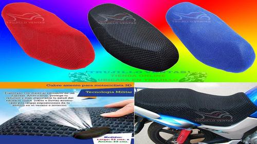 malla elastica 3d asiento para moto fz honda crf  elite @tv