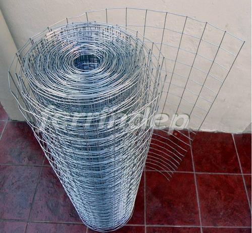 malla electrosoldada tejido alambre 50x50 1,6mm 1mt rollo