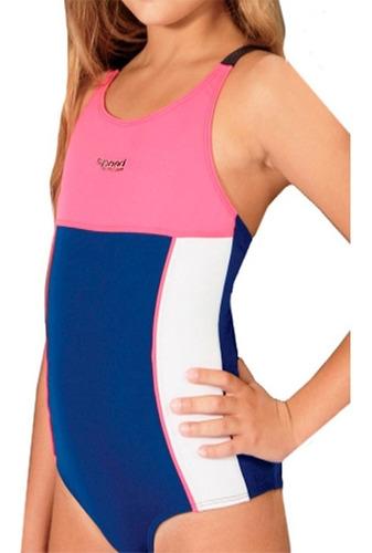 malla enteriza de natacion combinadas niña anticloro speed