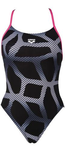 malla enteriza natación arena mujer spider booster back