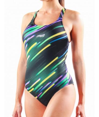 malla enteriza natación speed anticloro estampada mujer