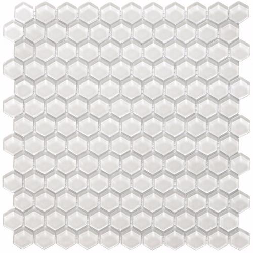 malla hexa vetro bianco vidrio 30x30 - venecitas- la plata